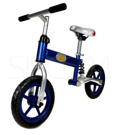"""Baby Maxi Rowerek biegowy z amortyzatorem niebiesko- szary 12"""" 1009 - Allegro"""