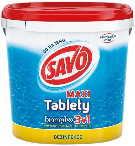 Savo Do Bazénu - Maxi tablety komplex 3v1 4 kg