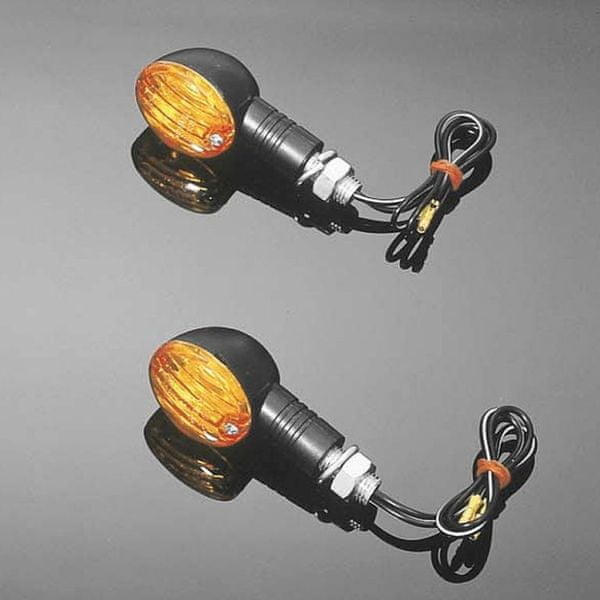 Highway-Hawk moto blinkry MINI CATEYE, E-mark, černá (2ks)