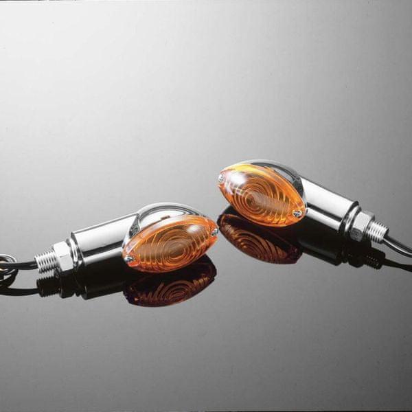 Highway-Hawk moto blinkry CATEYE malé, chrom (2ks)