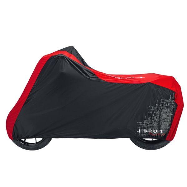 Held prodyšná krycí plachta na motocykl vel.L, černá/červená (textil)