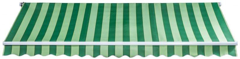 Myard Milano 4x2,5m s ručním ovládáním SPD029, zelenobílá
