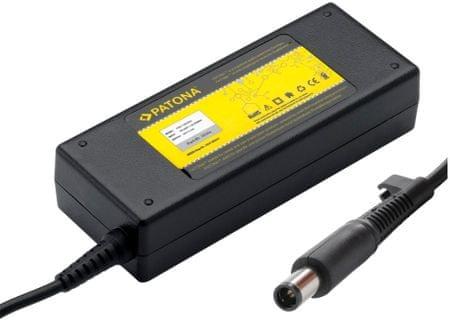 PATONA Patona Napájecí adaptér pro Notebook (HP/Compaq/7,4x5mm+pin konektor; 90W), černá