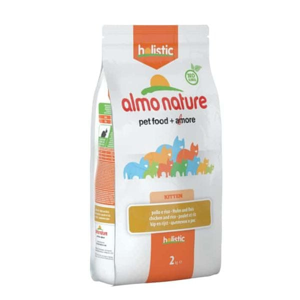 Almo Nature Holistic DRY CAT Kitten - Kuře s rýží 2 kg