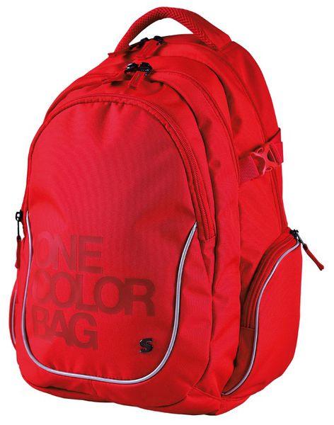 Stil školní batoh teen One Colour červený