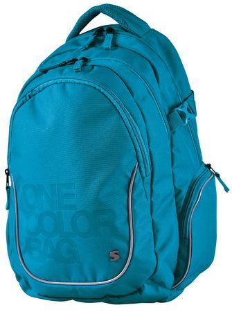 f876904107c Stil školní batoh Teen One Colour tyrkys