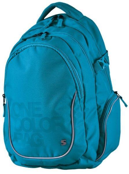 Stil školní batoh Teen One Colour tyrkys