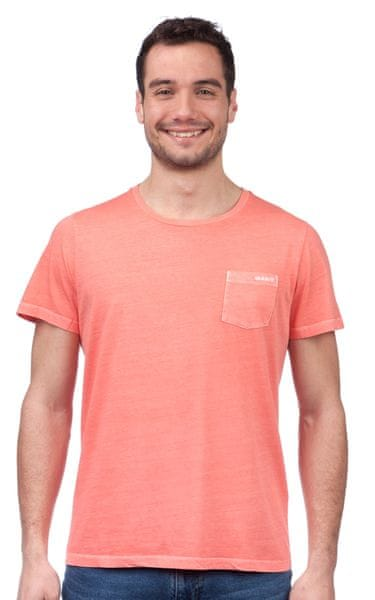 Gant pánské tričko M lososová