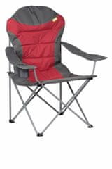 Kampa stol za kampiranje XL High Back, rdeč