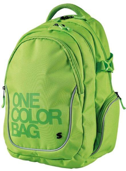 Stil školní batoh Teen One Colour zelený