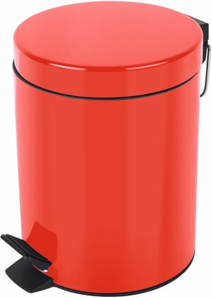 Spirella Odpadkový koš SYDNEY 5 l, red
