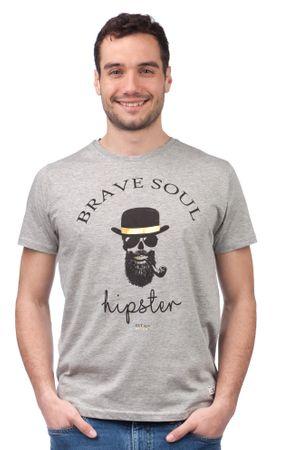 Brave Soul pánské tričko Midas XL sivá