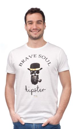 Brave Soul pánské tričko Midas XL biela