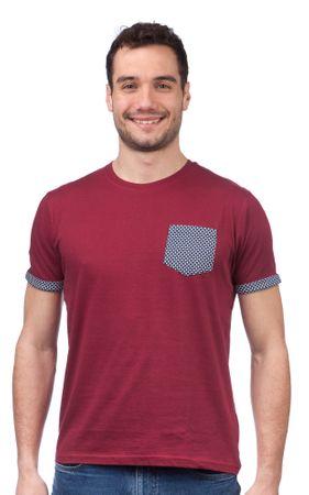 Brave Soul moška majica Sphere S vinska