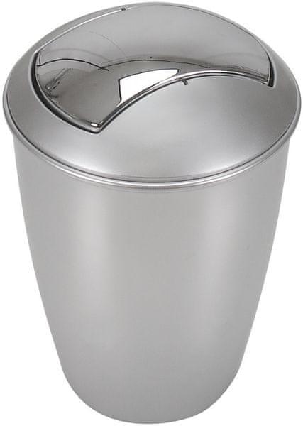 Spirella Odpadkový koš ATLANTA, silver