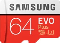 Samsung micro SDXC 64GB EVO Plus + SD adaptér (MB-MC64GA/EU)