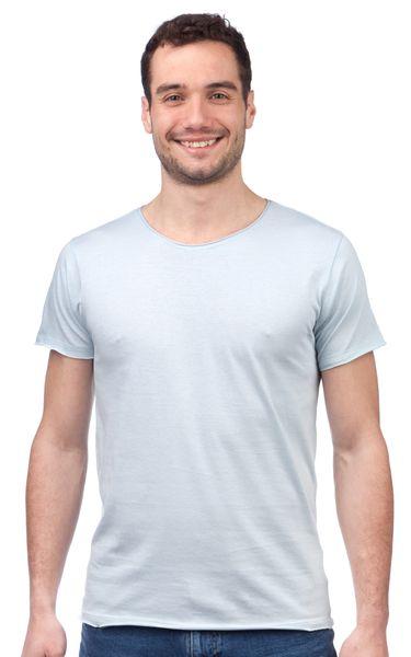 Brave Soul pánské tričko Fresherb M světle modrá