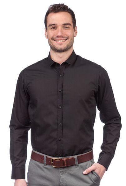 Brave Soul pánská košile Tudor XL černá