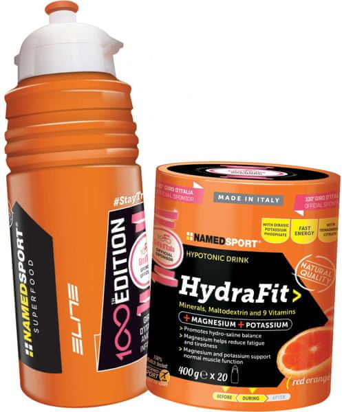 NAMEDSPORT Hydra Fit 400g + Lahev Elite 500ml (edice 100 let Giro d'Italia)