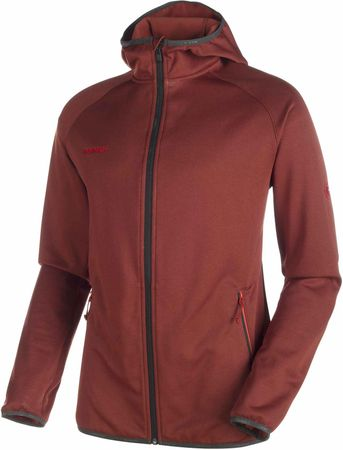 Mammut Go Far ML Hooded Jckt M maroon melange S