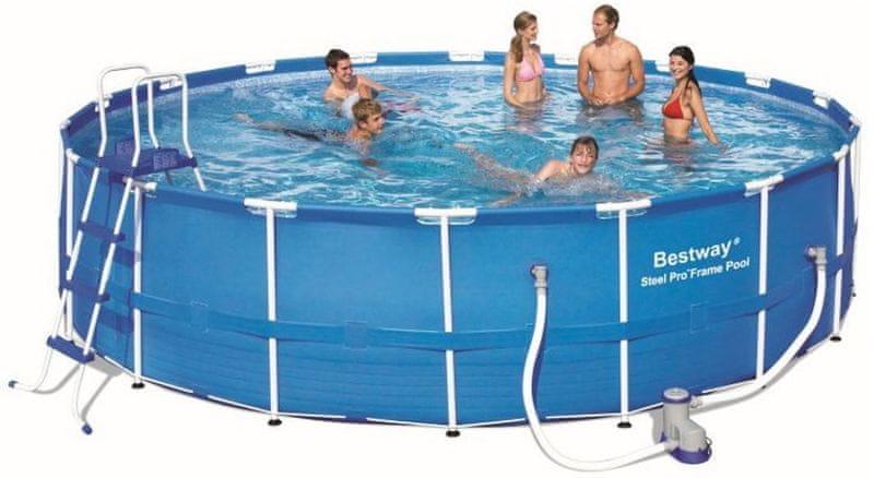 Bestway Bazén s konstrukcí 549 x 122 cm s filtr.