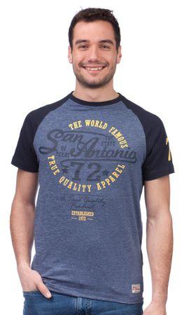 Brave Soul pánské tričko Antonio M modrá
