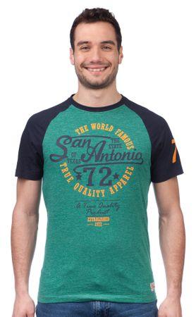 Brave Soul pánské tričko Antonio S zelená