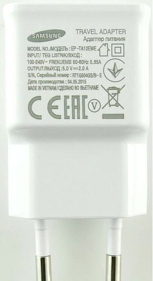 Samsung Nabíječka + kabel (EP-TA12EWE+ECB-DU4AWE), bílá
