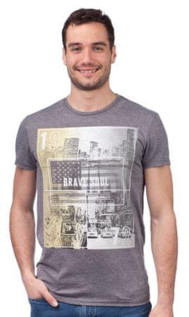 Brave Soul moška majica Staten S siva