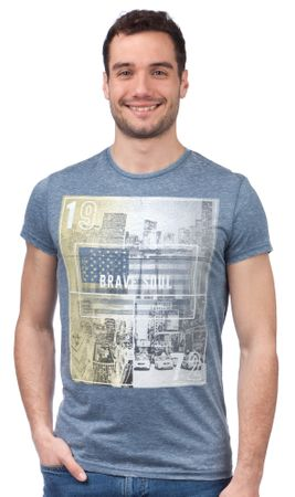 Brave Soul moška majica Staten XL modra