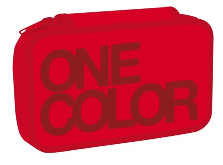 Stil Školní penál dvoupatrový One Colour červený