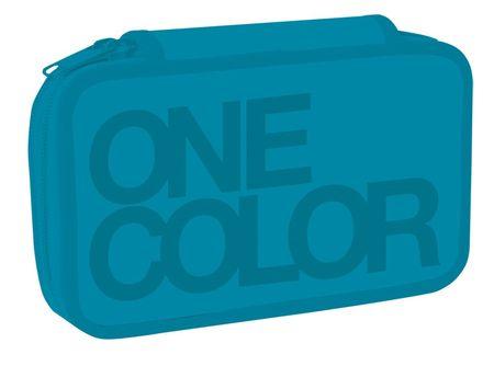 Stil Školský peračník dvojposchodový One Colour tyrkys