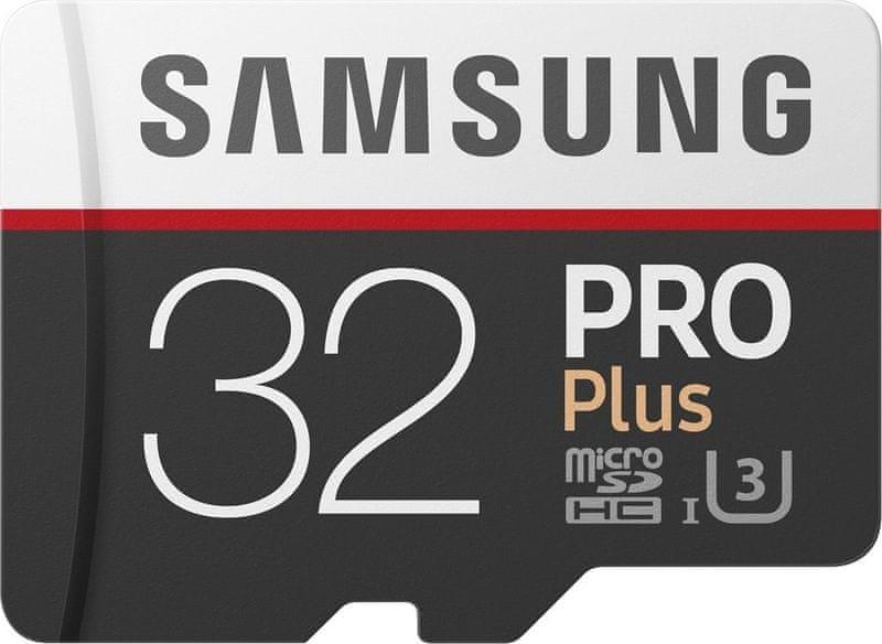 Samsung micro SDHC 32GB PRO Plus + SD adaptér (MB-MD32GA/EU)