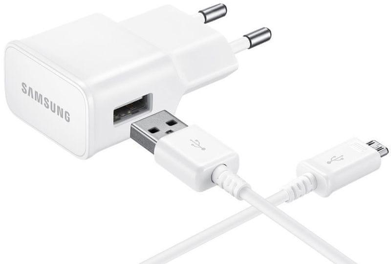 Samsung Nabíječka + kabel (EP-TA20EWE+ECB-DU4EWE), bílá