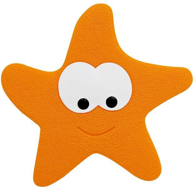 Spirella Bezpečnostní dekorace do vany STARFY orange, 5 ks