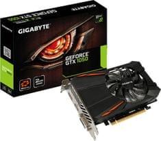 Gigabyte grafična kartica GeForce GTX 1050 D5 2G, 2GB GDDR5