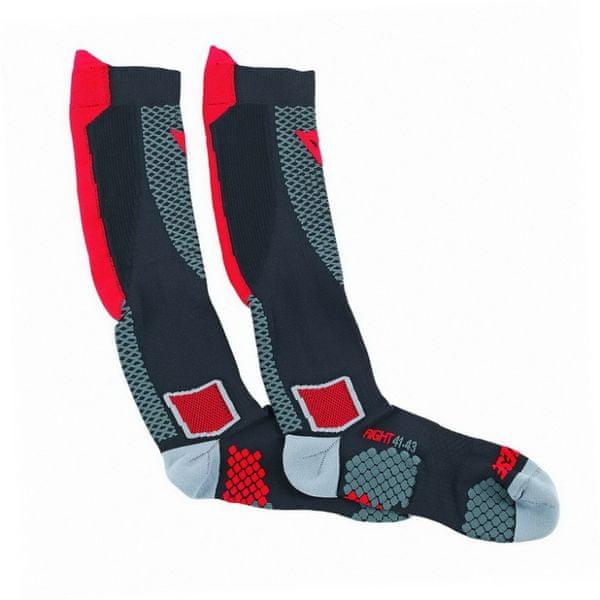 Dainese podkolenky (ponožky) D-CORE vel.L černá/červená