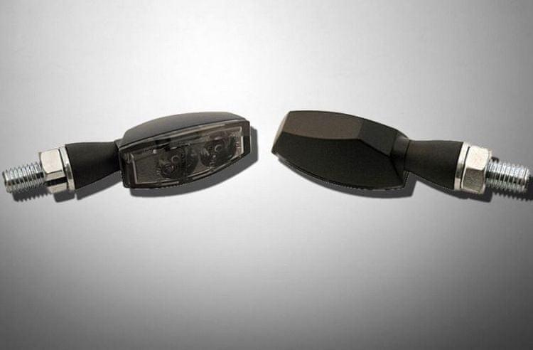 Highway-Hawk moto blinkry MINI s LED, E-mark, kouřové, černé (2ks)