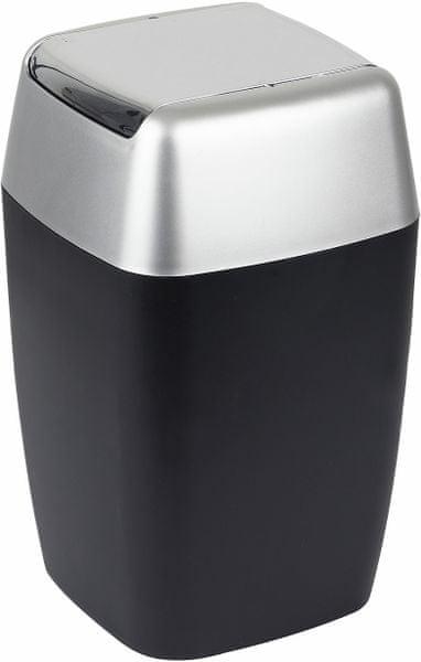 Spirella Odpadkový koš RETRO, black