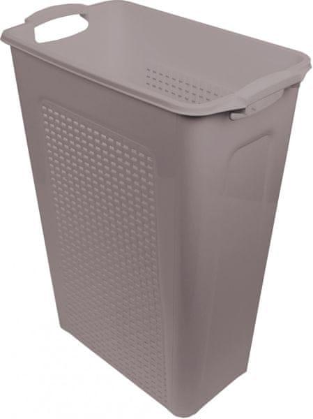 Heidrun Koš na špinavé prádlo 45 l, hnědá