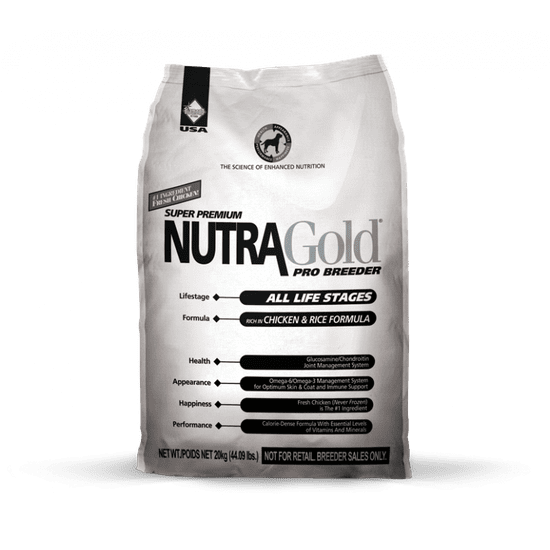 Nutra Gold sucha karma dla psa Breeder Bag 20kg