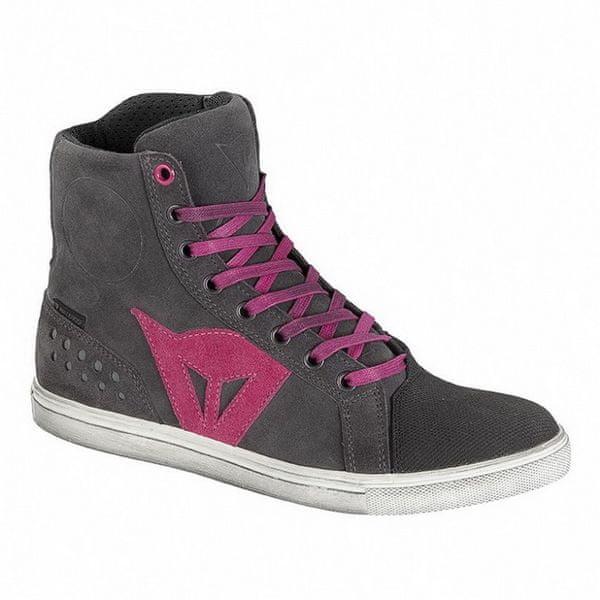 Dainese kotníkové dámské boty STREET BIKER LADY D-WP vel.37 antracitová/růžová, kůže (pár)