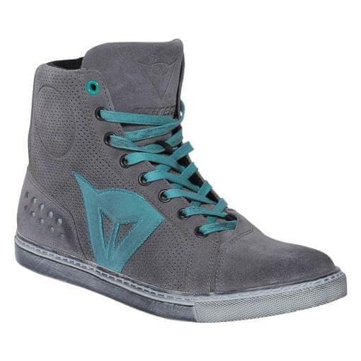 Dainese kotníkové dámské boty STREET BIKER LADY AIR vel.38 šedá/modrá, kůže (pár)