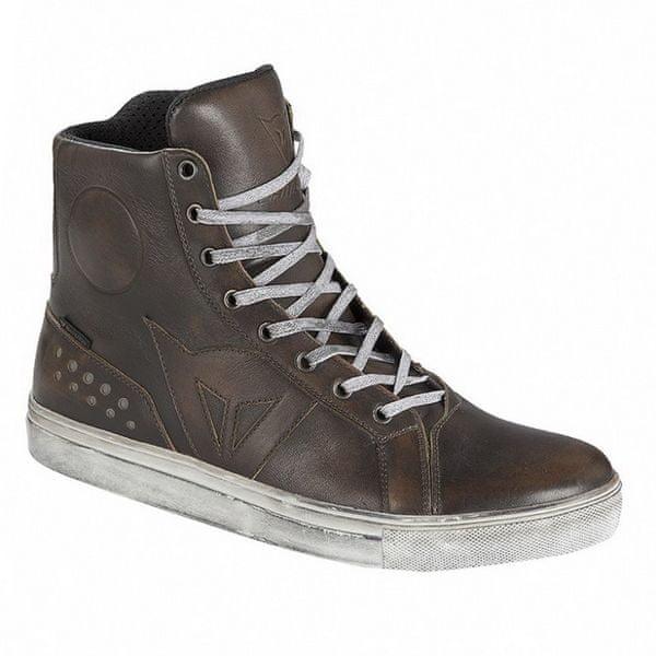 Dainese kotníkové boty STREET ROCKER D-WP vel.44 hnědá, kůže (pár)