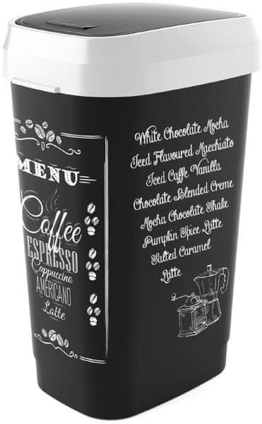 Kis Koš Dual Swing Bin Coffee menu 50 l