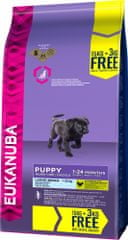 Eukanuba suha hrana za mladiče, Puppy & Junior Large Breed, 15 kg + 3 kg gratis