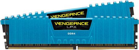 Corsair Vengeance LPX Blue 16GB 2x8GB DDR4 Memória, 3000 Mhz
