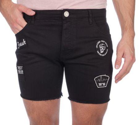 Brave Soul moške kratke hlače Southbadge S črna