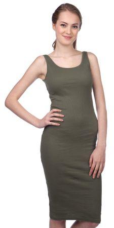 Brave Soul ženska obleka Ribbypka1 M kaki