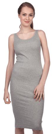 Brave Soul ženska obleka Ribbypka1 XS siva